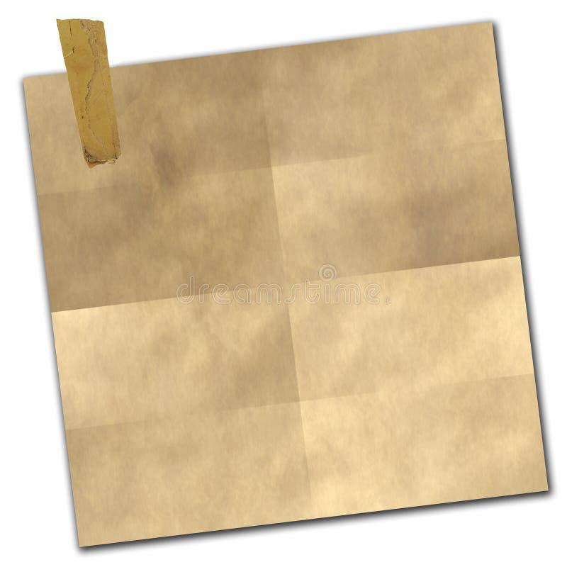 Documento legato illustrazione vettoriale