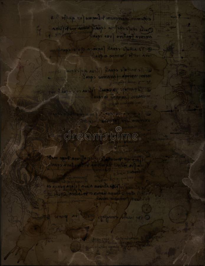 Documento macchiato XIV fotografia stock libera da diritti