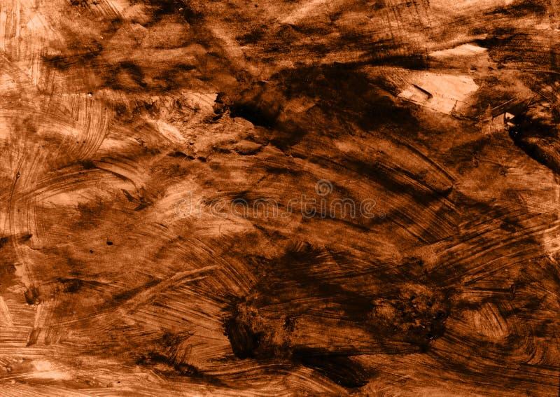 Documento marrone sgualcito illustrazione vettoriale