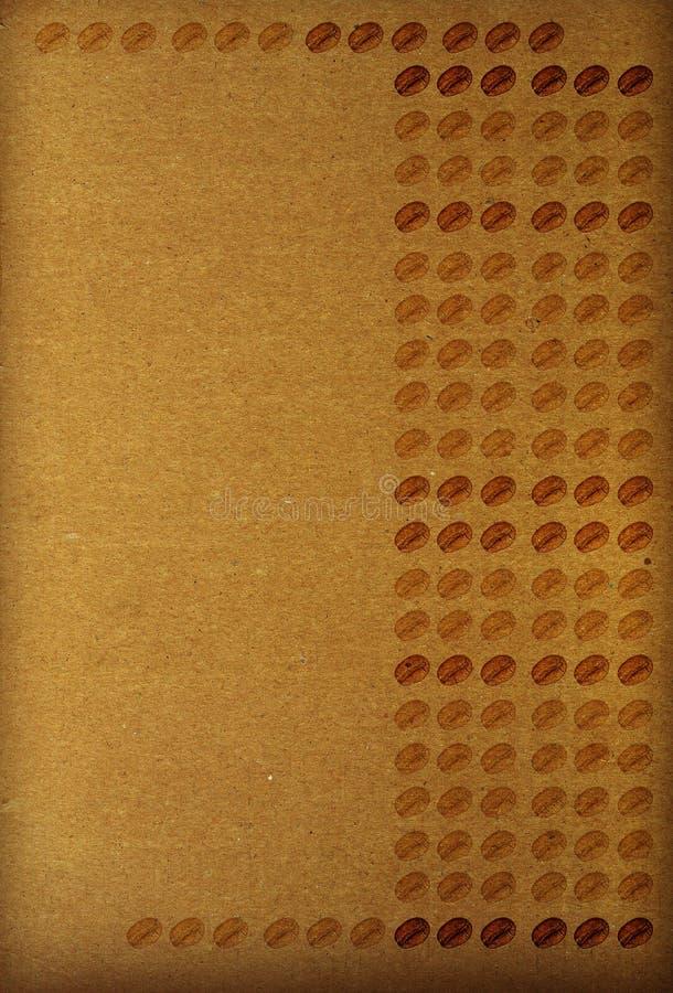 Documento marrone strutturato - righe dei chicchi di caffè fotografie stock