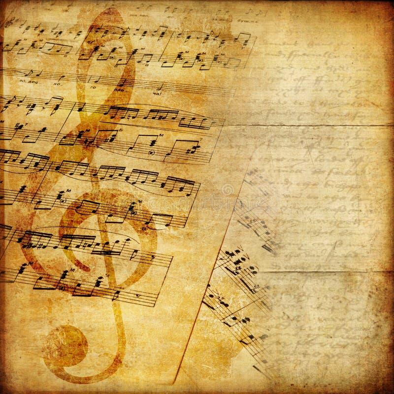 Documento musicale immagini stock libere da diritti