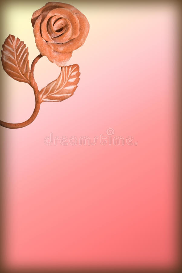 Documento pastello con il bordo della Rosa illustrazione vettoriale