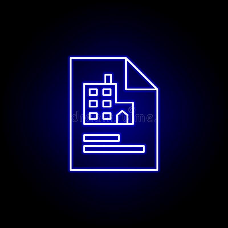 Documento, perfil, ícone do escritório r Os sinais e os s?mbolos podem ser usados para a Web ilustração royalty free