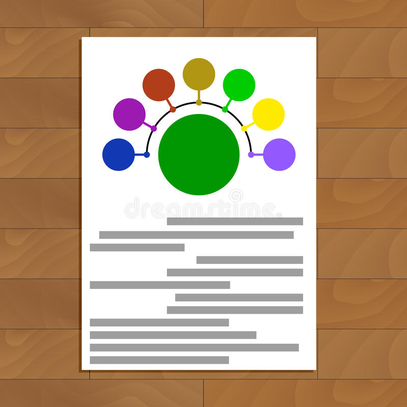 Documento rotondo di schema royalty illustrazione gratis