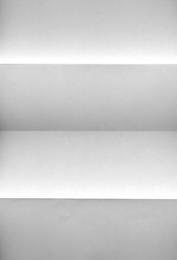 Documento sgualcito bianco immagini stock