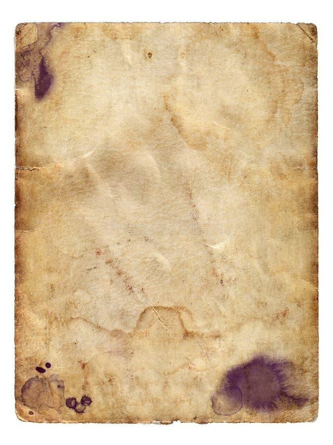 Documento sobre el fondo blanco aislado fotografía de archivo