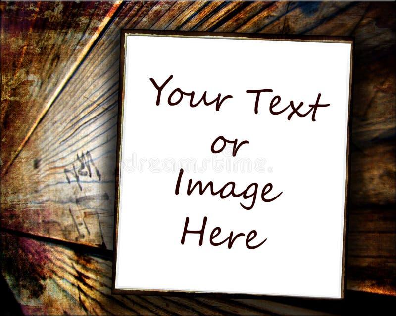 Documento sobre el fondo de madera imagen de archivo libre de regalías