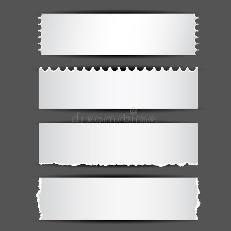 Documento strappato illustrazione vettoriale