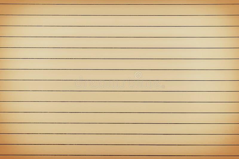 Documento vecchio del blocchetto per appunti con le linee orizzontali priorità bassa immagini stock