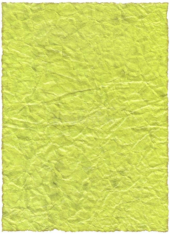 Documento verde dell'annata vecchio immagini stock