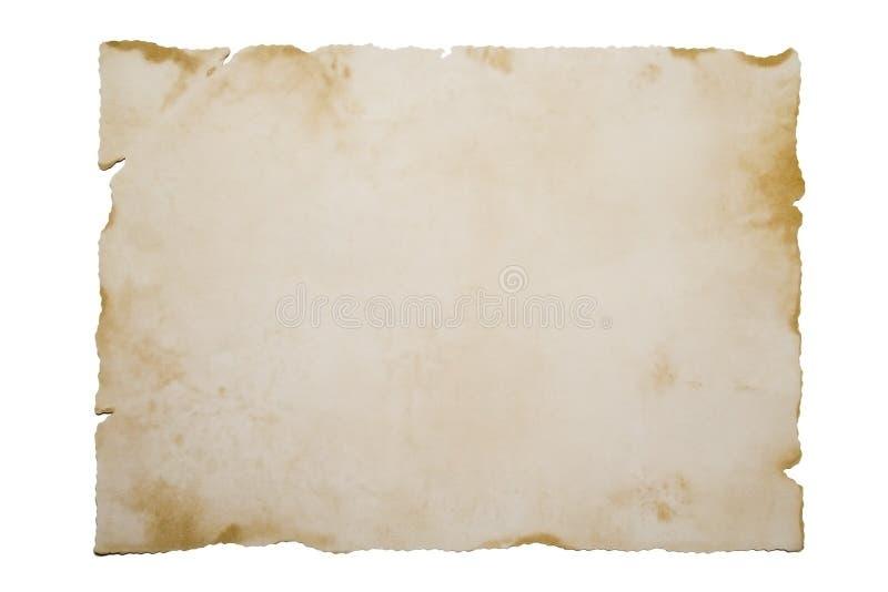 Documento viejo sobre blanco imagenes de archivo