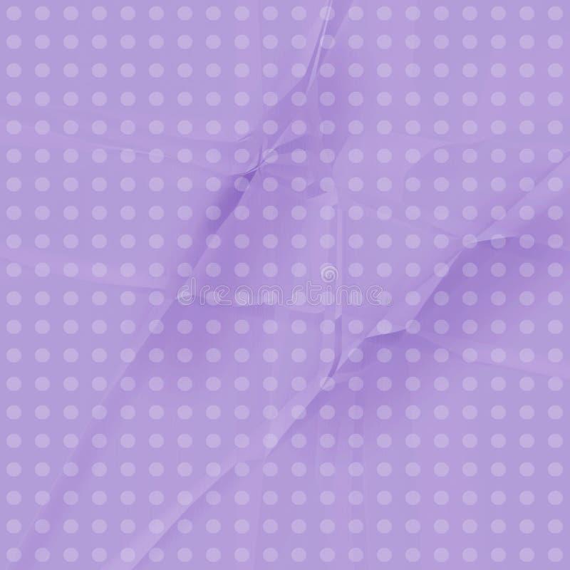 Documento viola del puntino di Polka illustrazione di stock
