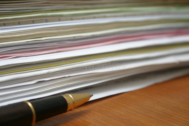 Documento (vista Lateral) Imagens de Stock