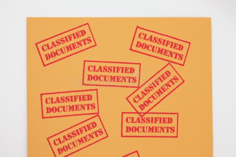 Documentos clasificados fotografía de archivo libre de regalías