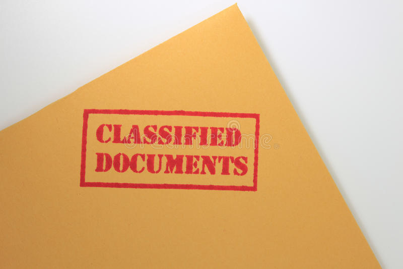 Documentos clasificados imagen de archivo