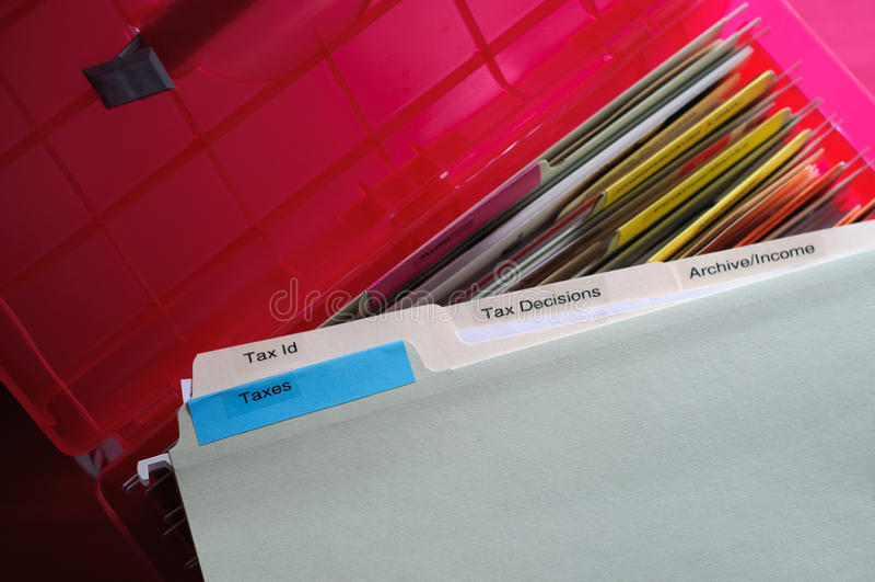 Documentos de los impuestos foto de archivo