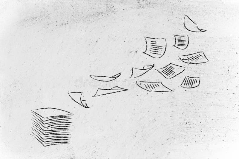 Documentos de negocio: la importancia de una buena organización stock de ilustración