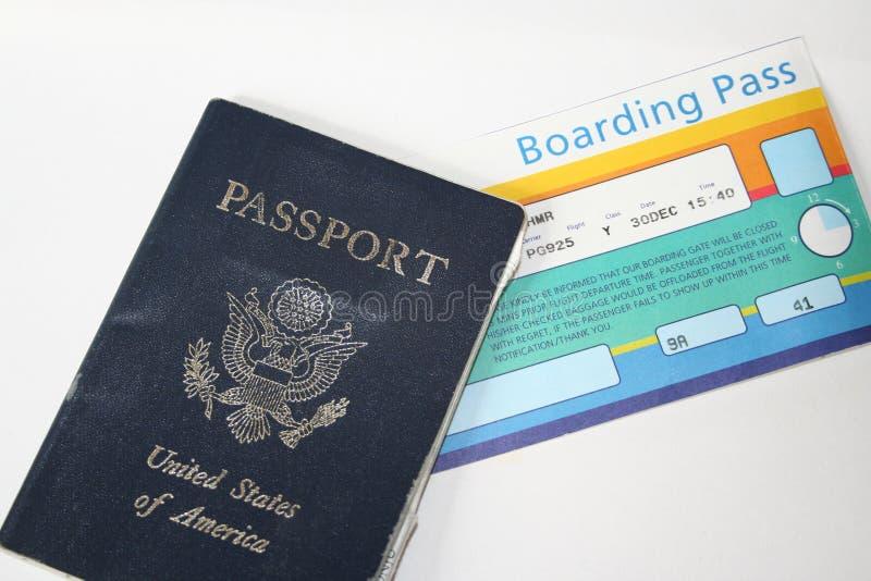 Documentos de viagem fotografia de stock royalty free