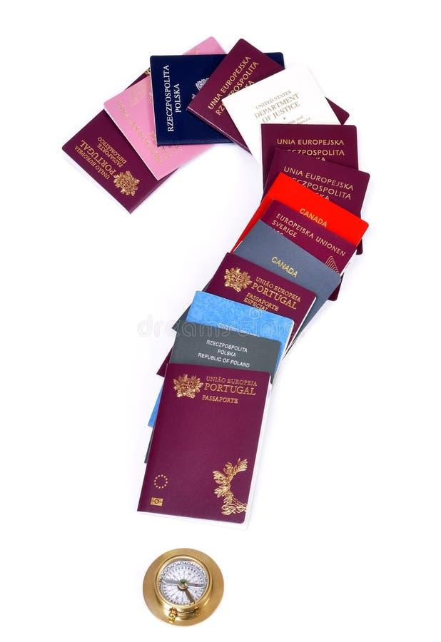 Documentos de viagem diferentes imagens de stock royalty free