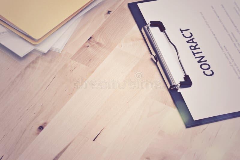 Documentos del contrato: Concepto del negocio, aún vida fotos de archivo