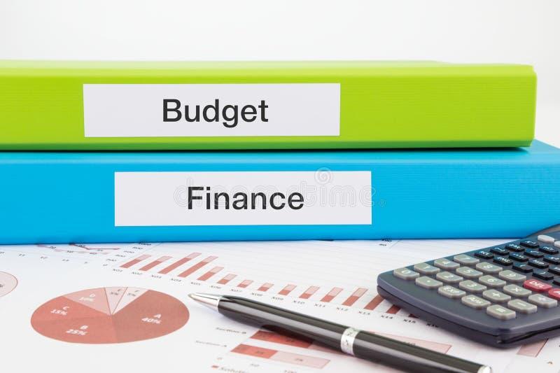 Documentos del presupuesto y de las finanzas con informes fotografía de archivo libre de regalías