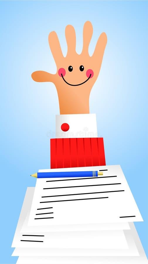 Documentos prácticos stock de ilustración