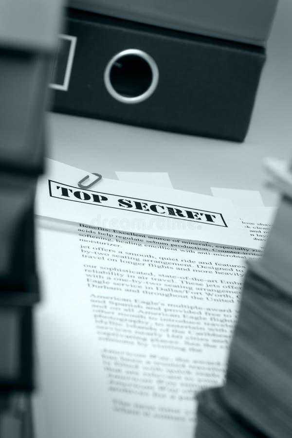 Documentos secretísimos imágenes de archivo libres de regalías