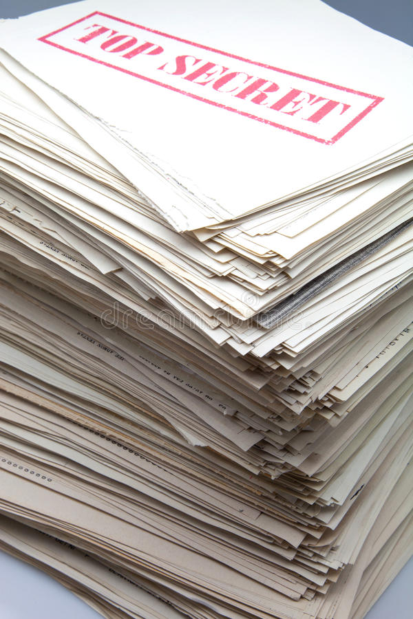 Documentos secretos imagen de archivo