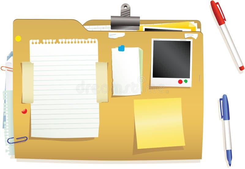 Documentos y fichero cerrado ilustración del vector