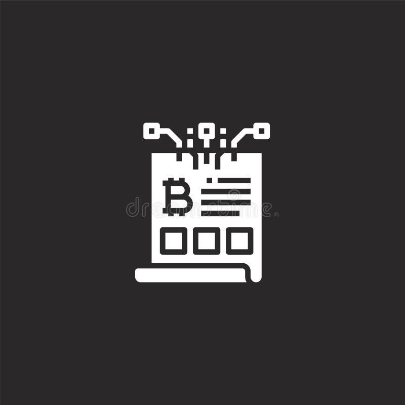 Documentpictogram Gevuld documentpictogram voor websiteontwerp en mobiel, app ontwikkeling documentpictogram van gevuld digitaal  vector illustratie