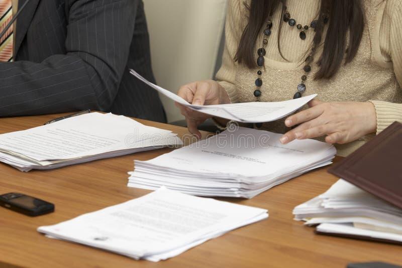 Documents 1 d'affaires photo stock