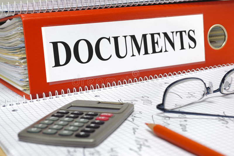 Documents stock images