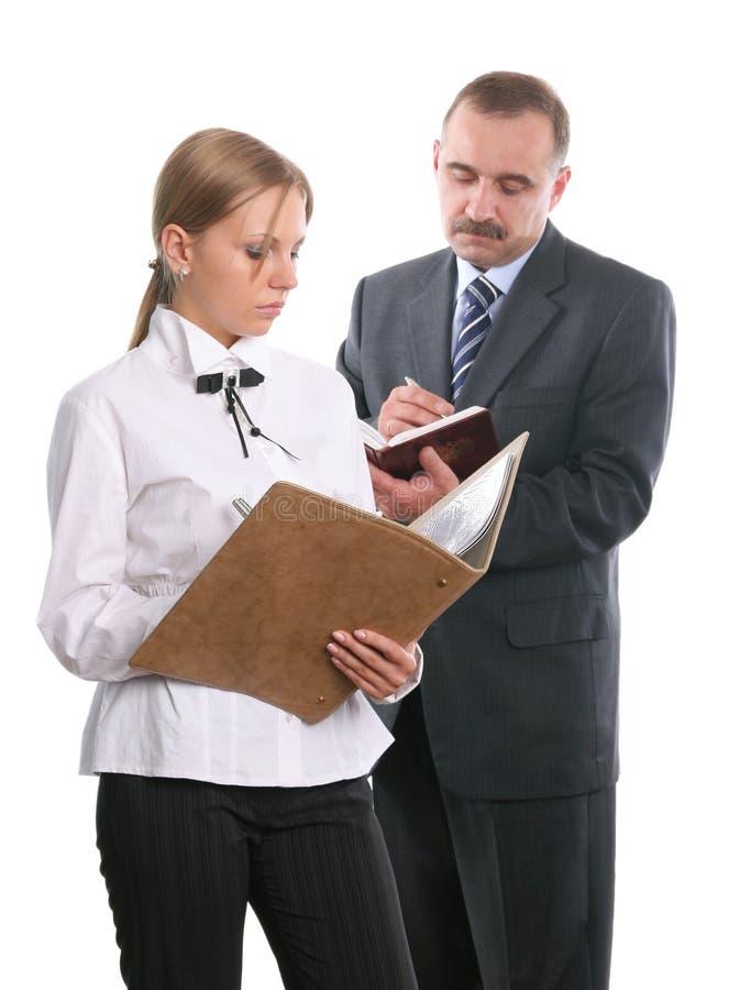 documents arbetare för kontor två royaltyfri bild