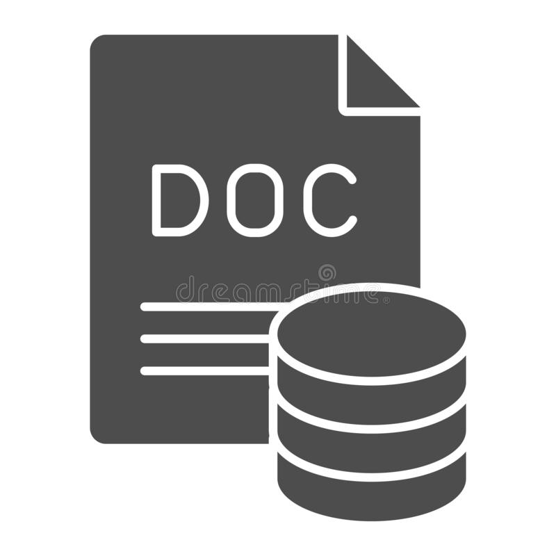 Documents archive solid icon. Files vector illustration isolated on white. Paper sheets glyph style design, designed for. Web and app. Eps 10 stock illustration