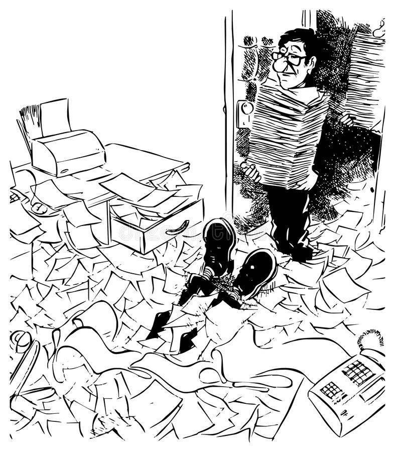 Documents circulation royalty free illustration