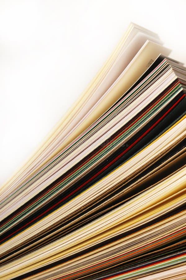 Documents classés image stock