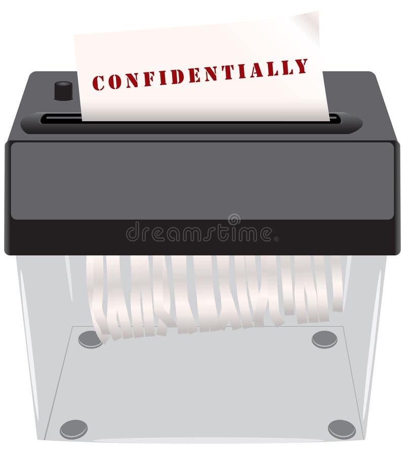 Documents confidentiels dans le défibreur illustration stock