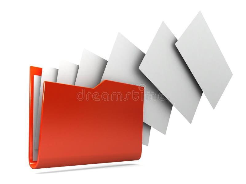 Documents de chargement de dépliant illustration de vecteur
