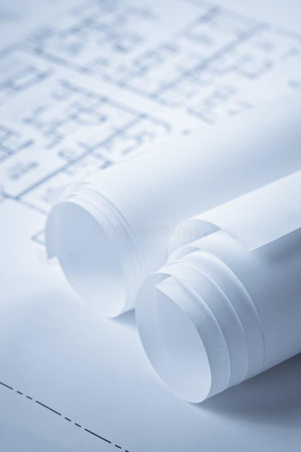 Documents de plan d'étage de modèle image stock