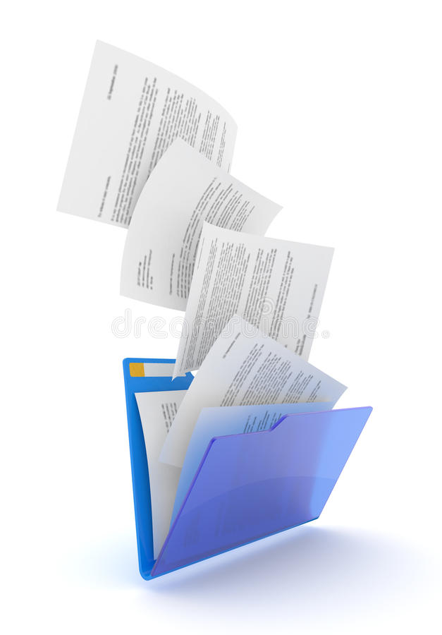 Documents downloading. stock illustration