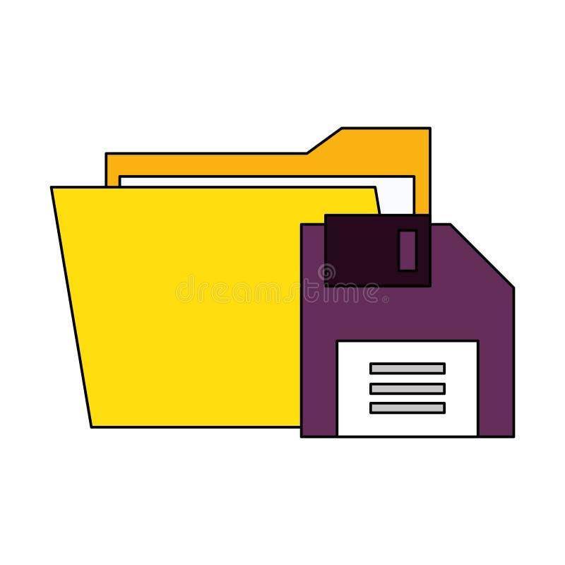 Documents files system archives cartoon. Documents files system diskette archives cartoon vector illustration graphic design vector illustration