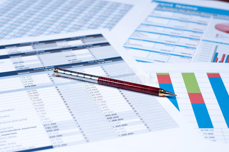Documents financiers photo libre de droits