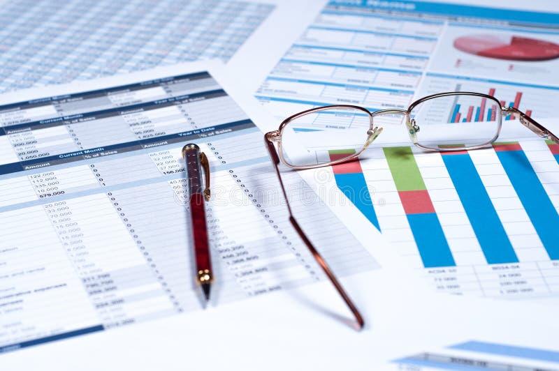 Documents financiers image libre de droits
