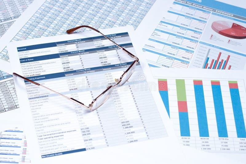 Documents financiers images libres de droits