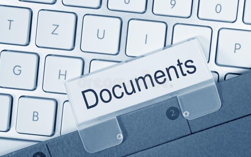 Documents folder on computer stock image