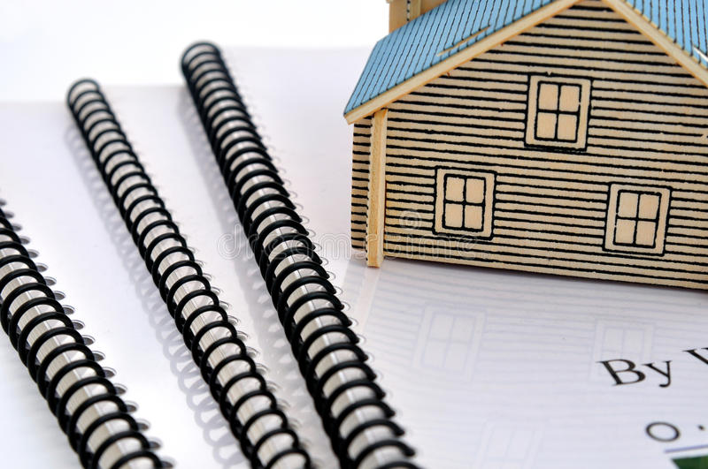 Download Documents and house model stock photo. Image of finance - 12030740
