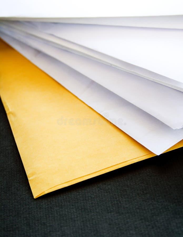 Documents, lettres images libres de droits