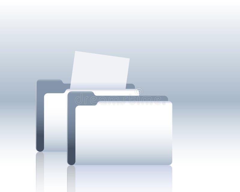 documents mappen royaltyfri illustrationer