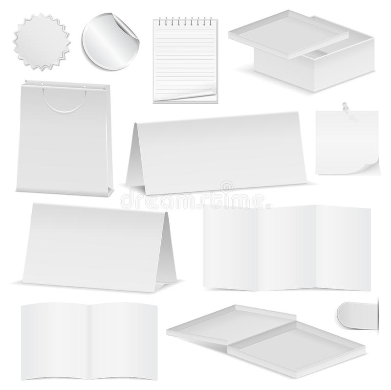 Documents papier illustration stock