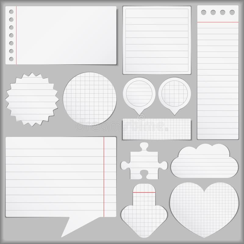 Documents papier réglés illustration stock